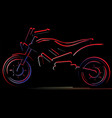 motorcycle on black background moto vector image