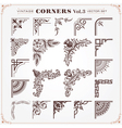Set of Vintage Corners 3 vector image