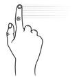 Touchscreen ruka2 resize vector image