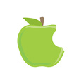 Bitten green apple vector image