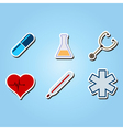color icons with medical theme vector image