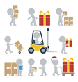 Flat people shipping vector image