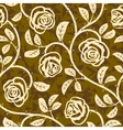 rose flowers seamless vector repeat pattern vector image