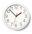 Round wall clock without divisions vector image