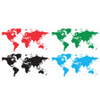 set of world maps vector image