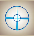 sight sign sky blue icon vector image