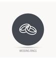 Wedding rings icon Bride and groom jewelery vector image