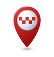 Map pointer with taxi icon vector image vector image