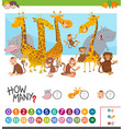how many animals game vector image