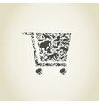 Cart an animal vector image vector image