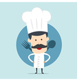 Chef show spoon and fork vector image
