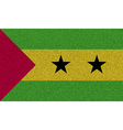 Flags Sao Tome Principe on denim texture vector image