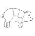 pork meat isolated icon design vector image