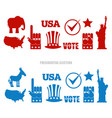 american elections sign set republican elephant vector image
