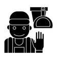cleaning service icon black vector image