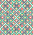 Green red rural geometric ornament pattern vector image