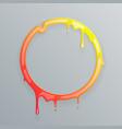 hot colors melting frame 3d flowing art flux vector image