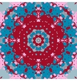 Mandala design Symmetry red and blue color vector image