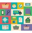 Set of e-commerce interface elements vector image