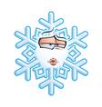 SnowFlake Emoticon Smooch vector image