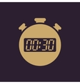 The 30 seconds minutes stopwatch icon Clock and vector image