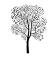 tree silhouette isolated spring nature plant vector image