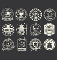 vintage coffee shop and cafe logos badges and vector image