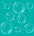 Translucent bubbles vector image