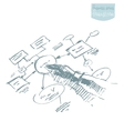 Man explaining plan strategy business brainstorm vector image