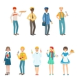 People With Different Professions In Classic vector image