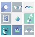 Drops of water - Set of design elements vector image vector image