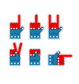 foam finger usa patriot american sports symbol vector image