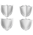 Silver shield collection vector image vector image