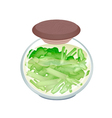 A Jar of Delicious Pickled Pok Choi vector image