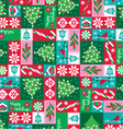 holiday patchwork vector image