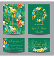 Tropical Flowers and Birds - for Wedding vector image