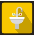 Ceramic sink icon flat style vector image