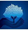 creative tree on hand vector image