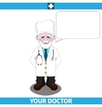 Doctor with empty dialog cloud vector image