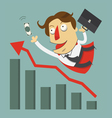 Flying businessman for success concept vector image