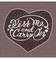 Kiss me and carry on - handdrawn lettering for vector image