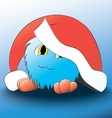 monster Cute cartoon blue christmas hat vector image