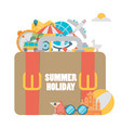 Set of concepts and banners of travel summer in vector image
