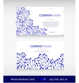 Set of two abstract cards with Blue floral vector image