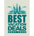 vacation deals vector image