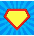 Super hero background vector image