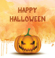 Halloween pumpkin on watercolor background vector image