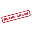 Blanc Space Text Rubber Stamp vector image
