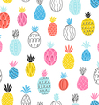 Fun pineapples pattern vector image vector image