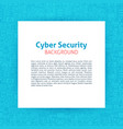 cyber security paper template vector image